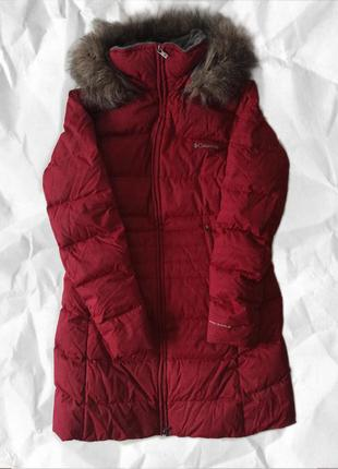 Пуховик пальто куртка для высоких температур дутик дутік гусиный пух перо оригінал оригинал columbia
