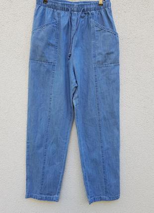 Классные стильные джинсы на резинке amber