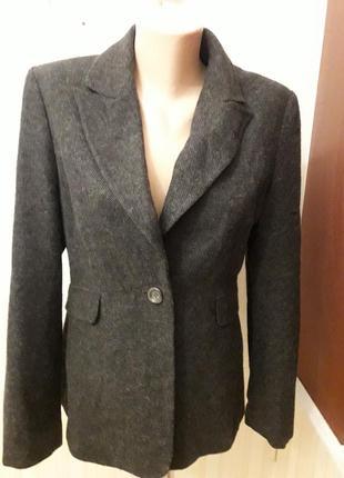 Пиджак блейзер базовый шерсть серый стильный македония бренд phase eight размер 12