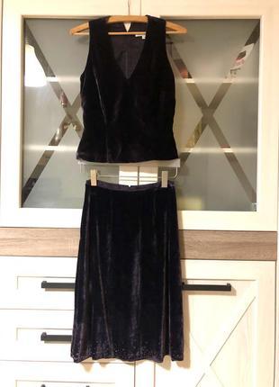 Стильный костюм юбка топ rebecca taylor s
