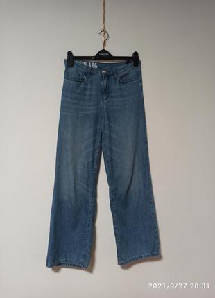 Прямые джинсы из тонкого денима