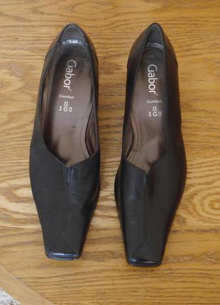 Туфлі шкіряні розмір 42 стелька 28,4 см gabor