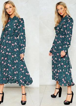 Платье в цветочный принт nasty gal