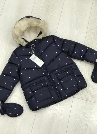 Тёплая курточка пальто на девочку осень зима