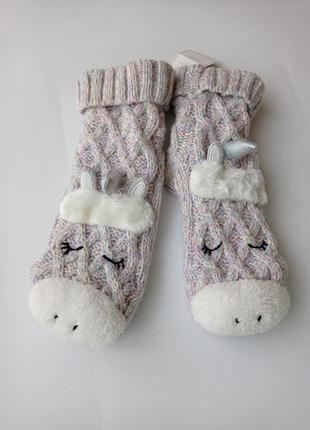 Next. домашние носки единороги с мехом, тапки. 37-41 размер.