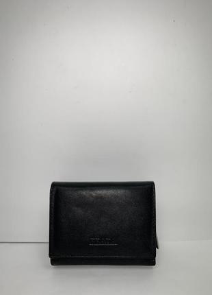 Кожаный фирменный кошелёк prada(3 отделения)