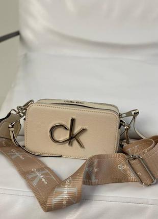 Женская кожаная сумочка calvin klein / жіноча сумка