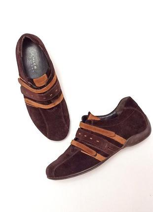 Замшевые туфли-кроссовки