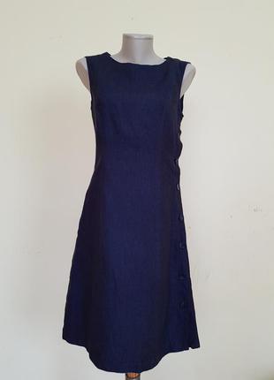 Оригинальное брендовое платье лен хлопок la redoute