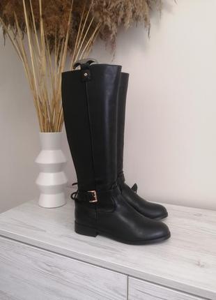 Шикарные сапоги деми ботфорты  ботинки