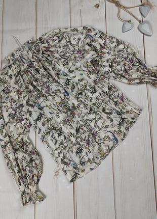 Блуза цветочная красивая легкая h&m uk 10/38/s