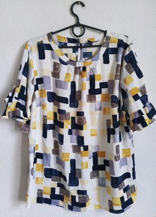Милая атласная блуза в принт