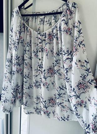 Нежнейшая оверсайз блуза от h&m