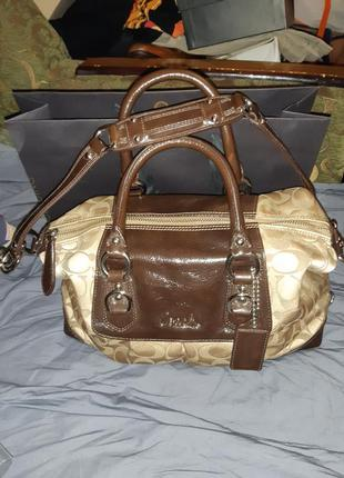 Coach фирменная сумка оригинал из шотландии.