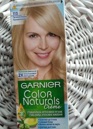 Стойкая крем-краска color naturals 113 песочный блондин