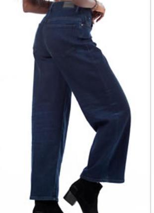 Укороченые джинсы дизель diesel wiidde-ne высокая посадка комфортные