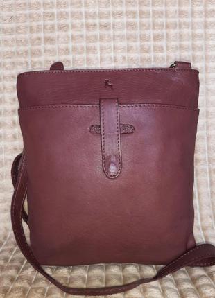 Стильная сумка планшетка натуральная кожа ashwood genuine leather