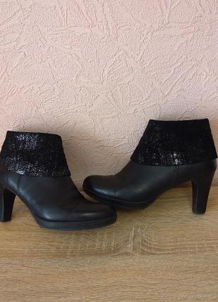 Красивые ботинки tamaris  натуральная кожа + замша акция 1+1=3