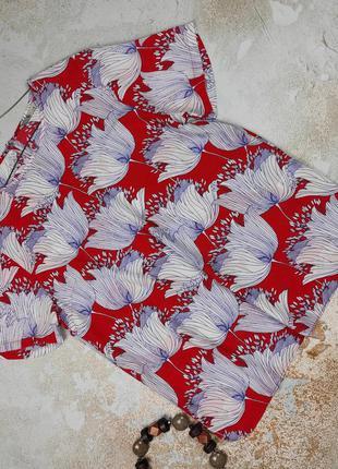 Блуза легкая изысканная в принт tu uk 12/40/m