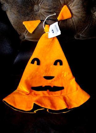 Шляпа колпак маскарадный тыква хэллоуин