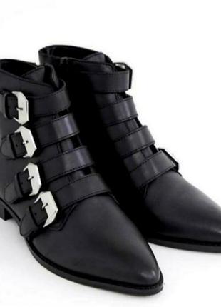 Стильные кожаные ботинки 43 размера на широкую стопу и высокий объем