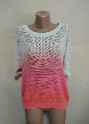 Кофта свитер футболка вязаная розовая бежевая нежная красивая