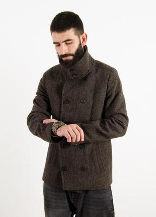 Allsaints hampton шерстяное пальто тренч куртка