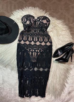 Платье боди/бюстье размер s