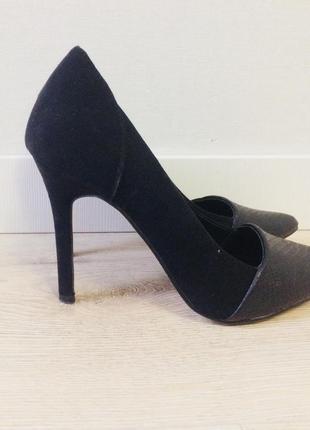 Туфли лодочки на каблуке, черные туфли лодочки