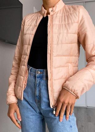 Куртка курточка ветровка stradivarius xs s пудровая розовая