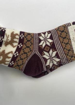 Домашние теплые женские носочки с мехом