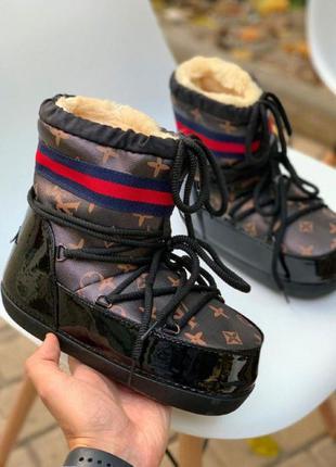 Женская обувь луноходы лв зима коричневые 36-41р