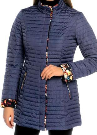 Фирменная куртка snowimage синяя цветная биопух