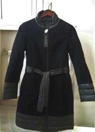 Шерсть, зимнее пальто/термо пальто sisley утеплитель thermore®, размер it 38
