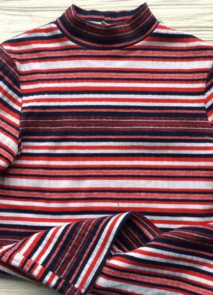 Джемпер кофта в рубчик цветную полоску