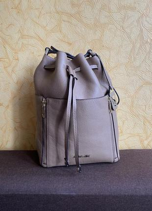 Кожаная сумка мешок marc cain