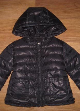 Теплая демисезонная куртка zara на 9-12 мес.