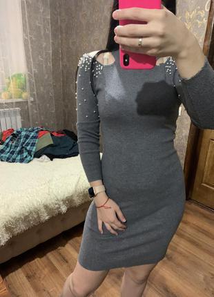 Платье карандаш тёплое