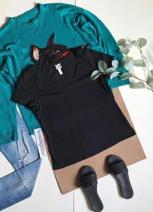 Последняя цена! чёрная базовая футболка р. l 12 40 eur 48