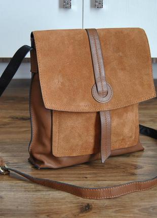 Кожаная сумка кроссбоди планшет / шкіряна сумка