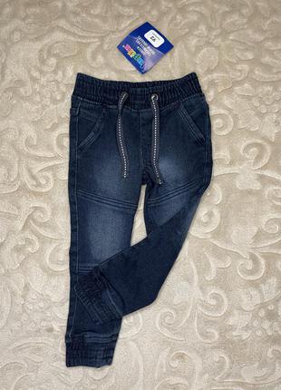 Утеплённые джинсы микрофлис термо штаны джоггеры флис