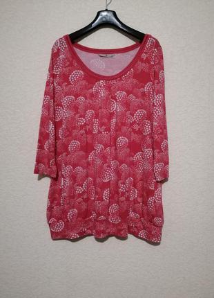 Трикотажная блуза с отделкой по горловине от tu)