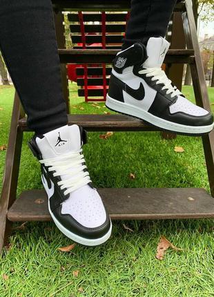 Clikshop женские кроссовки nike air jordan 1 retro черно белые новинка