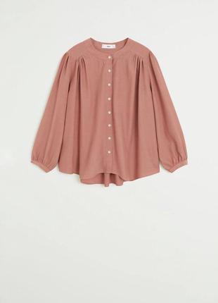 Пыльно розовая блуза mango