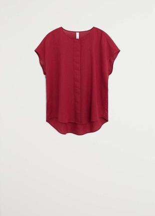 Бордовая блуза рубашка mango