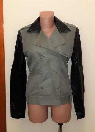 💥1+1=3 брендовая куртка косуха демисезон guess оригинал, размер 46