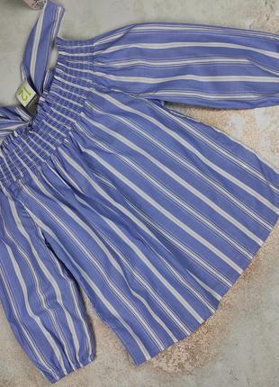 Блуза топ новая хлопковая стильная в полоску uk 12/40/m