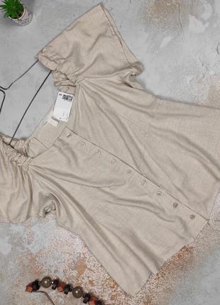 Блуза топ новая привлекательная большого размера оригинал h&m uk 18/46/xxl