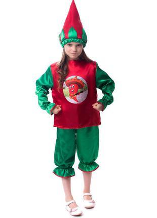 Детский маскарадный новогодний костюм перец чили горький перчик