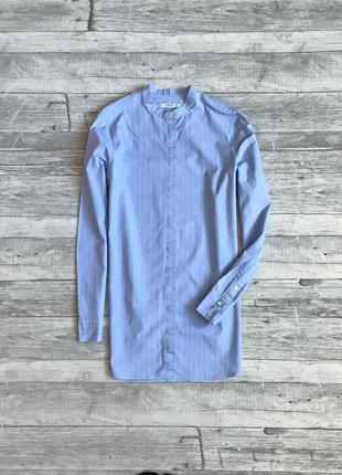 Удлиненная блуза в полоску mango